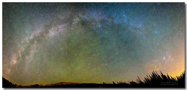 Colorado Indian Peaks Milky Way Panorama Art