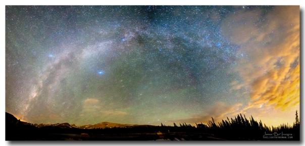 Colorado Indian Peaks Wilderness Milky Way Panoram Art