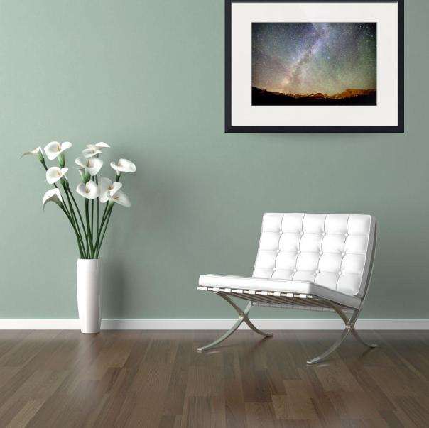 indian peaks milky way art print