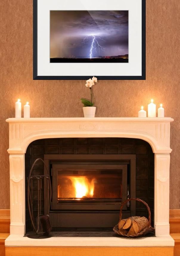 Lightning Strikes Following the Rain Art Print