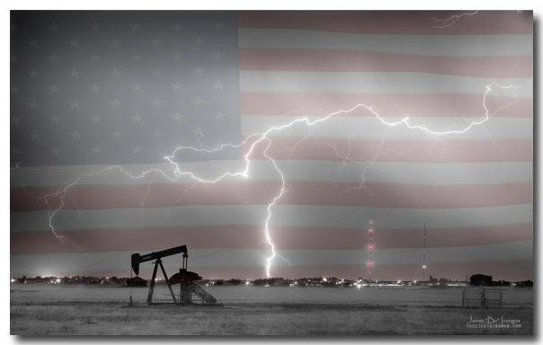 Crude Oil and Natural Gas Striking Across America Art Print