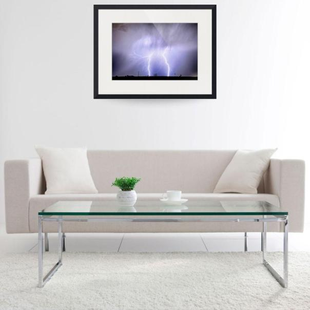 Double Lightning Strike In Harmony Art Print