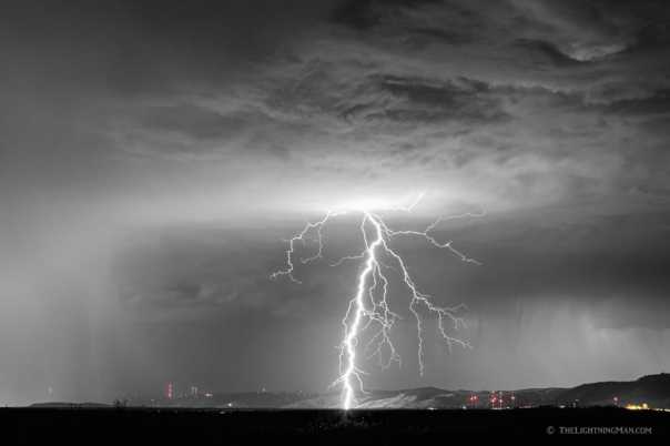 Lightning Strikes Following the Rain BWSC Art Print