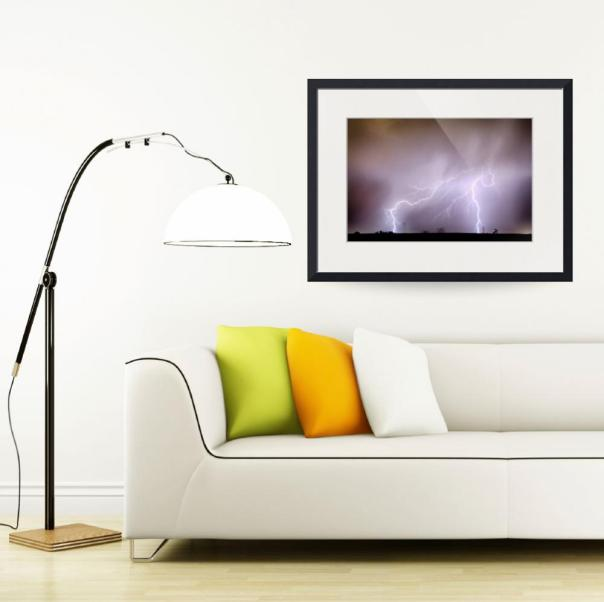 Lightning Strikes The Dacona Oil Fields Art Print