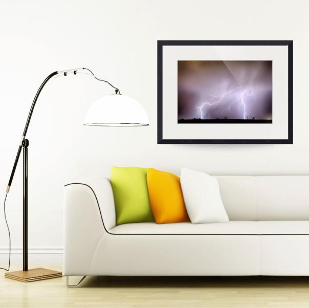 Lightning Strikes The Dacona Oil Fields Art Print