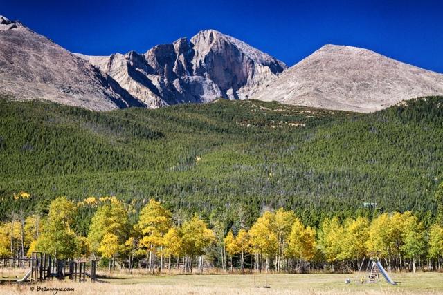Longs Peak a Colorado Playground Art Print