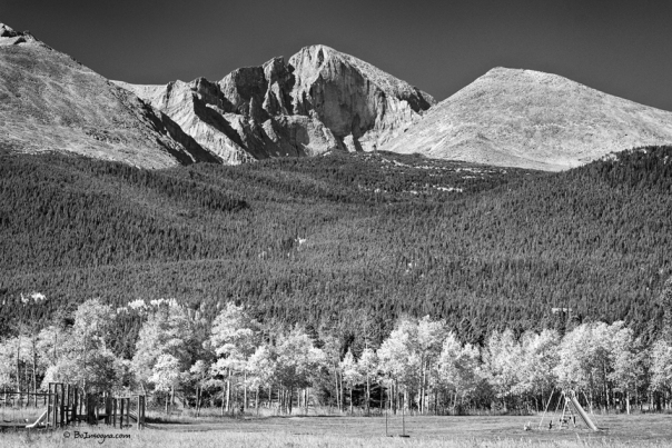 Longs Peak a Colorado Playground In Black and White
