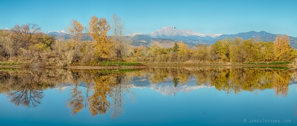 Autumn Peaks Golden Ponds Reflections Panorama Prints