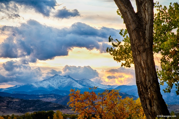 Colorado Rocky Mountain Twin Peaks Autumn View Art Print