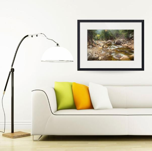 Down Stream nature Art Print