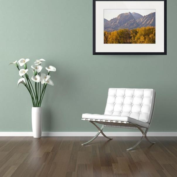 Golden Autumn Boulder Colorado Flatiron View Art Print