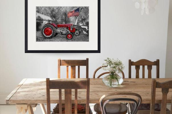 Massey – Feaguson 65 Tractor with American Flag BWSC