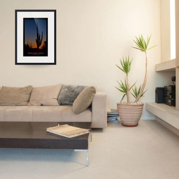Sonoran Desert Sunrise Poster Print Framed Print