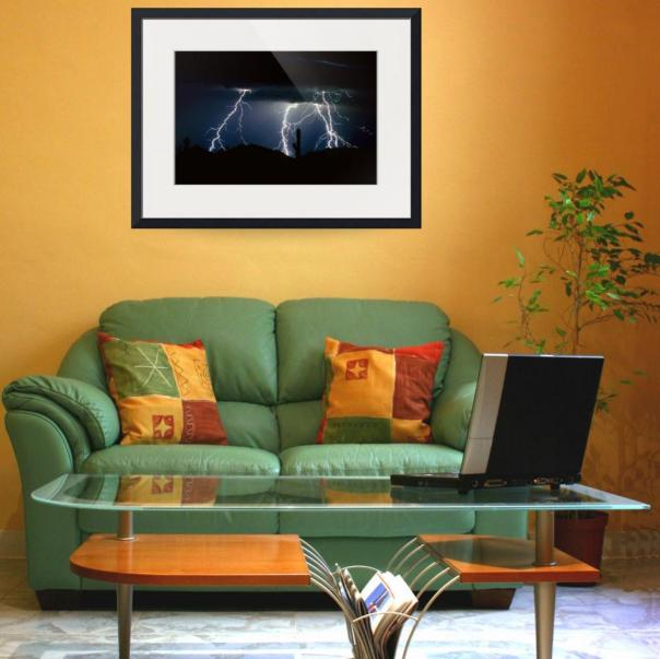 4 Lightning Strikes Art Print