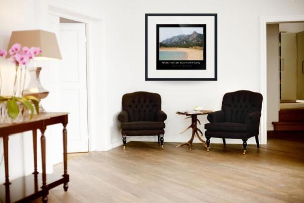 Boulder Flatirons Oceanfront Property Poster Black Print