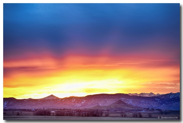 Boulder County Haystack Rocky Mountain Sunset Art Prints