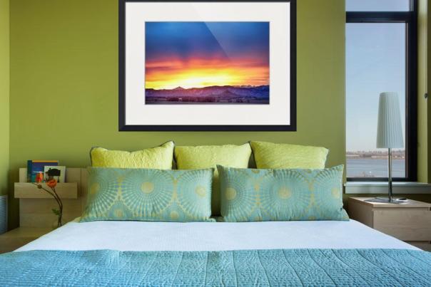 Boulder County Haystack Rocky Mountain Sunset Art Print