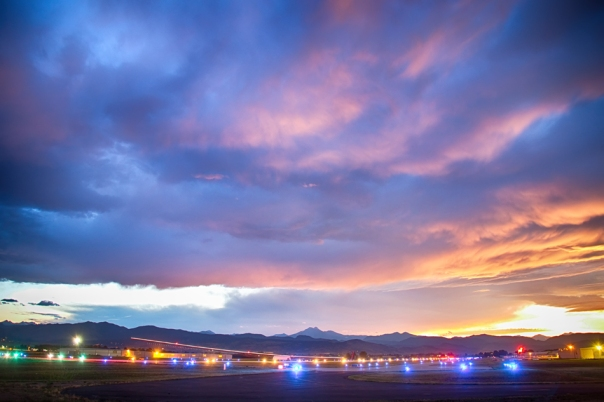Colorado Vance Brand Airport Sunset View