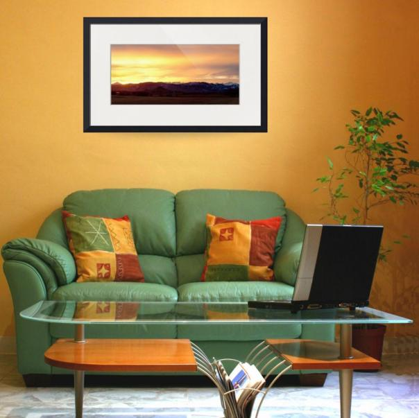 Haystack Rocky Mountain Sunset Panorama Art Prints