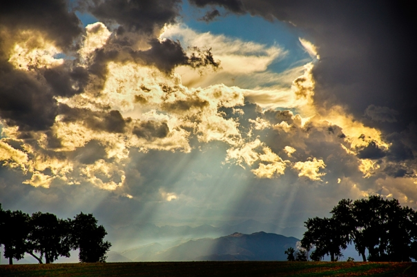 Sunlight Raining Down From the Heavens Art Print