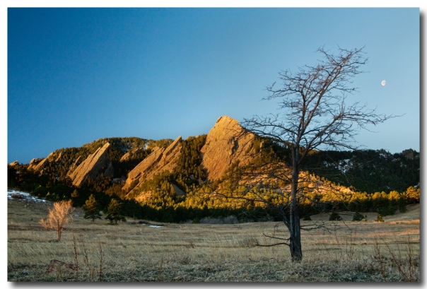 Boulder Colorado Flatirons Early Morning Light Art Print