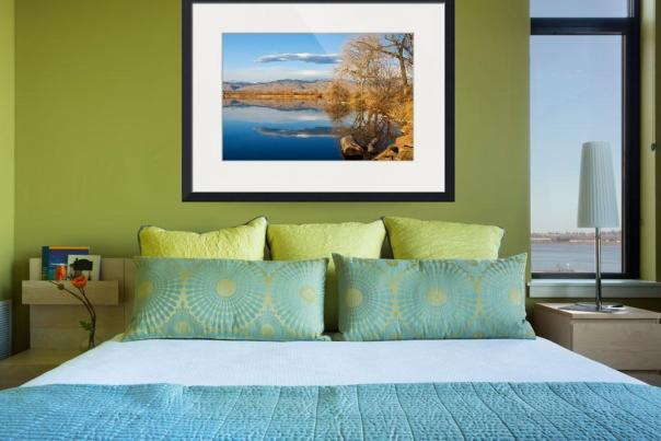 Colorado Rocky Mountain Lake Reflection View Art Print