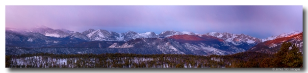 Colorado Rocky Mountain Continental Divide Peaks Sunrise Panoram