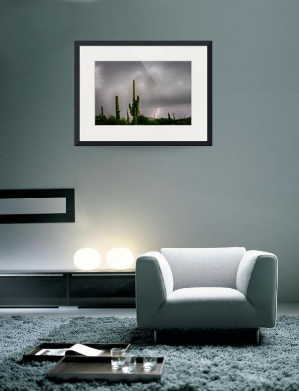 Sonoran Monsoon Lightning Thunderstorm Delight Art Print
