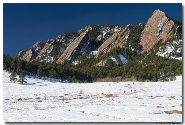 Chautauqua Park Boulder Colorado Winter View Art Print