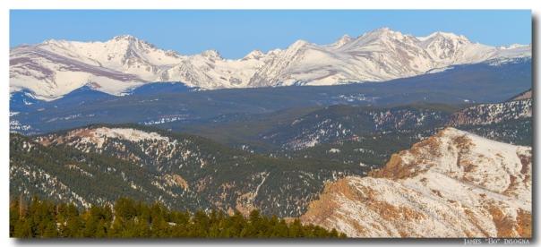 Rocky Mountain Continental Divide Winter Panorama Art Print