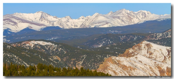 Rocky Mountain Continental Divide Winter Panorama Art Print