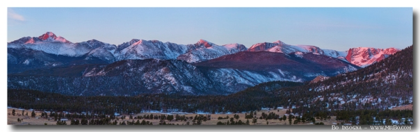 Rocky Mountain National Park First Light Panorama Art Print