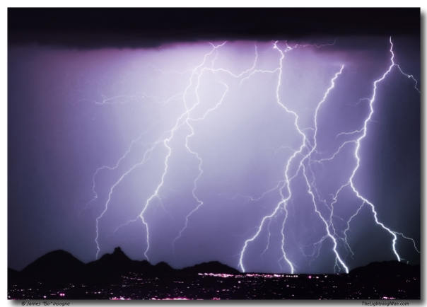Lightning Storm North Scottsdale Az 85255 Art