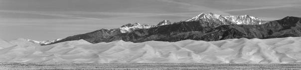 Great Sand Dunes National Park and Preserve Panorama BW