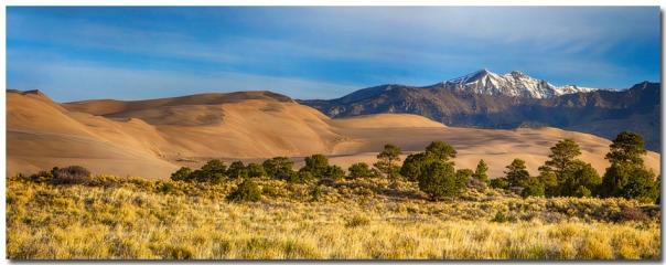 Plains Dunes And Rocky Mountains Panorama Art