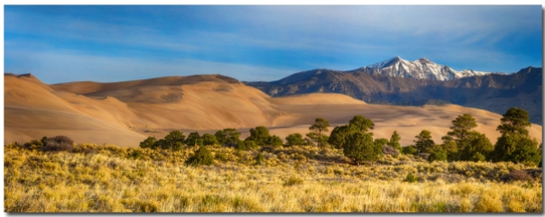 Plains Dunes And Rocky Mountains Panorama Art