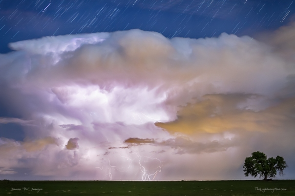 Dancing Thunderstorm Cell On The Horizon Art Print