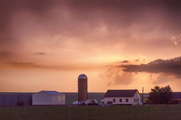 Evening Country Storm Art Prints