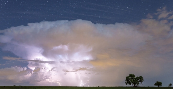 Lightning Thunderstorm On The Colorado Plains Art Print