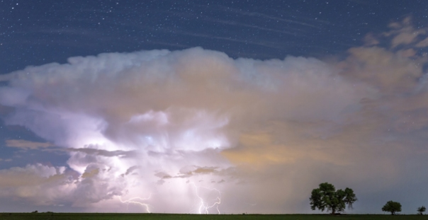Lightning Thunderstorm On The Colorado Plains Art Print