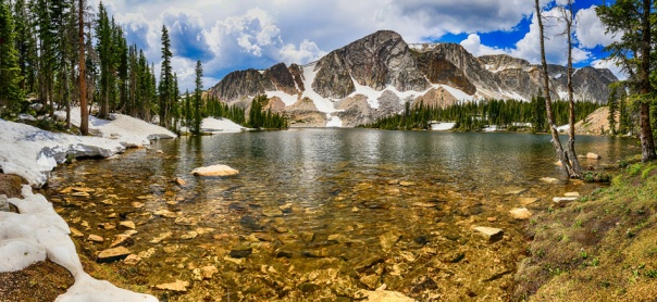 Medicine Bow Mountain Range Lake Panorama Art