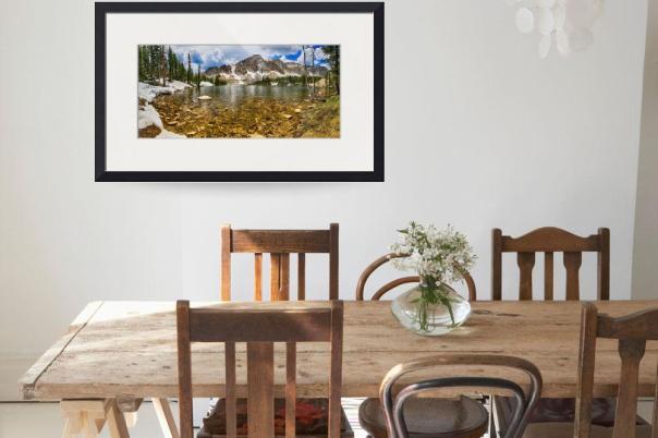 Medicine Bow Mountain Range Lake Panorama Art