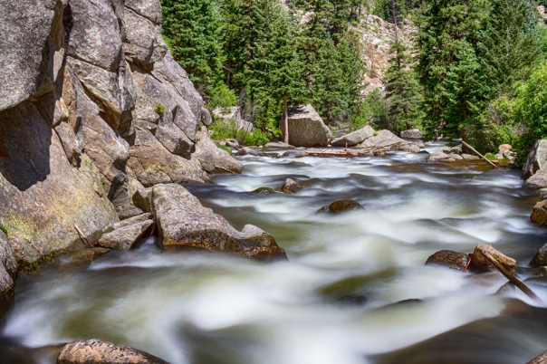 Boulder Canyon - Boulder Creek - Colorado Wall Art