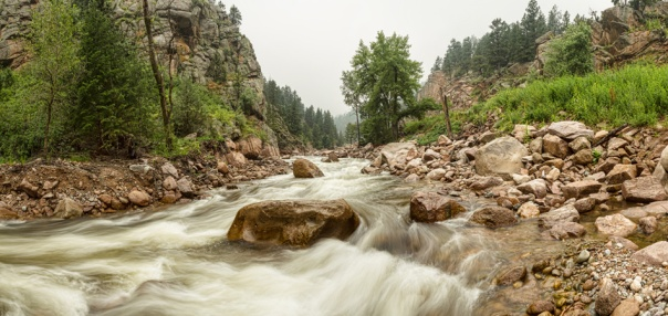 Fisherman's Panorama Colorado Canyon View Art