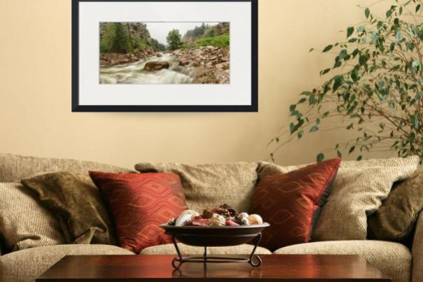 Fisherman's Panorama Colorado Canyon View Art
