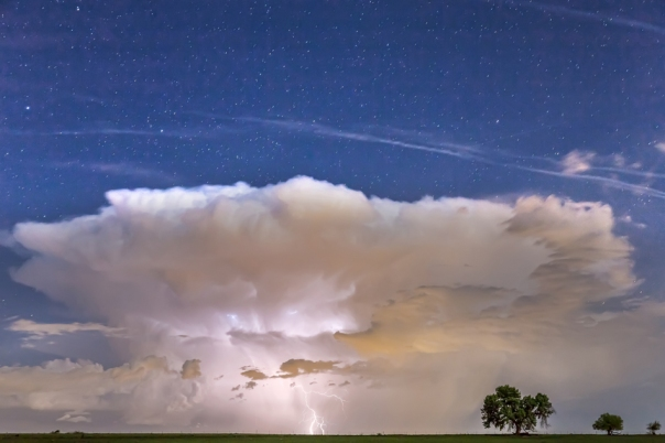 Springtime Thunderstorm On the Colorado Plains Wall Art