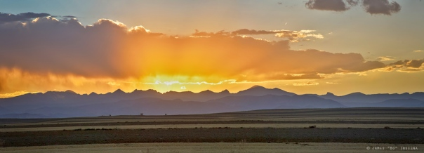 Colorado September Sunset Panorama art print