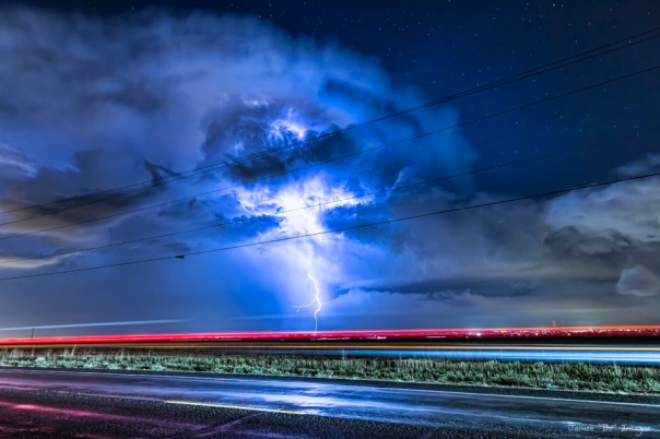 Alien Power Line Explosion Fine Art Print