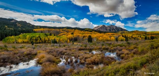 Autumn Season Rocky Mountain Pass Panorama