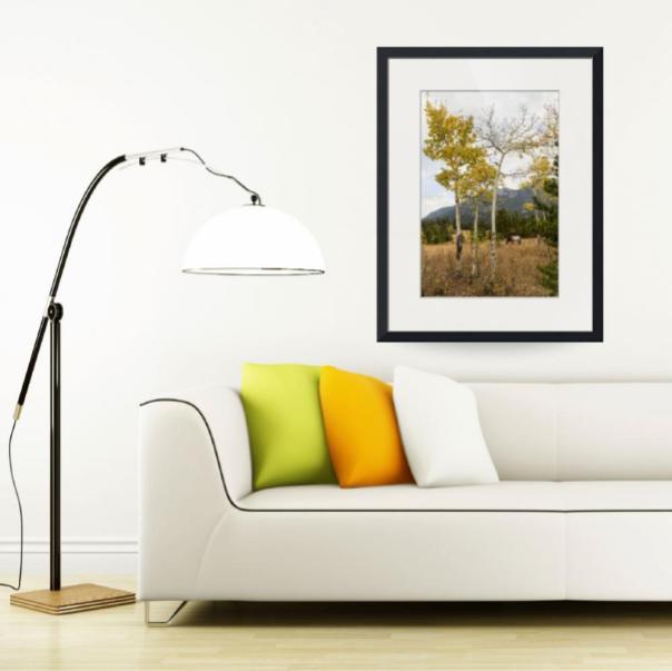 Beautiful-Horse-Autumn-Aspen-Trees-Grove-Grazing_art